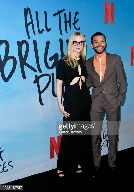 Elle Fanning and Justice Smith attend the Special Screening of Netflix's All The Bright Places at ArcLight Hollywood on February 24 2020 in Hollywood...