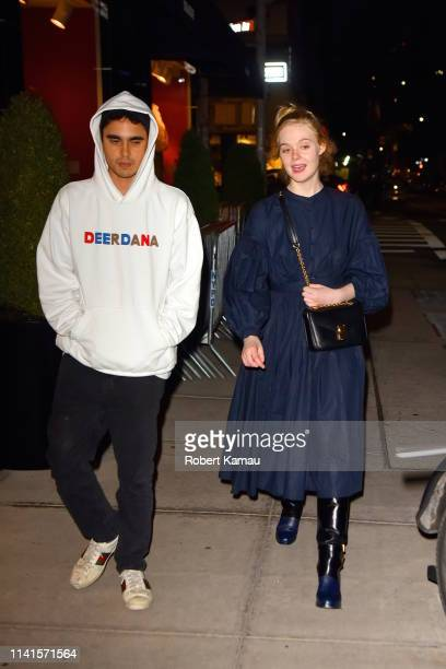 Elle Fanning and Max Minghella seen out and about in Manhattan on May 4 2019 in New York City