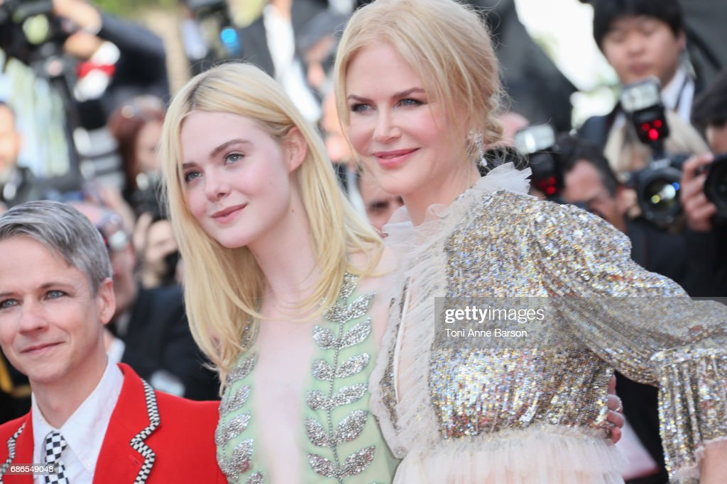 Elle Fanning and Nicole Kidman attend the 'How To Talk To Girls At Parties' screening during the 70th annual Cannes Film Festival at Palais des Festivals on May 21, 2017 in Cannes, France.