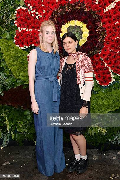 Elle Fanning and Soko attend Just One Eye x Creatures of the Wind Collaboration Dinner at Just One Eye on August 18 2016 in Los Angeles California