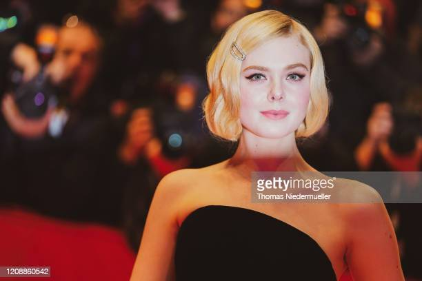 """Elle Fanning arrives for the """"The Roads Not Taken"""" premiere during the 70th Berlinale International Film Festival Berlin at Berlinale Palace on..."""