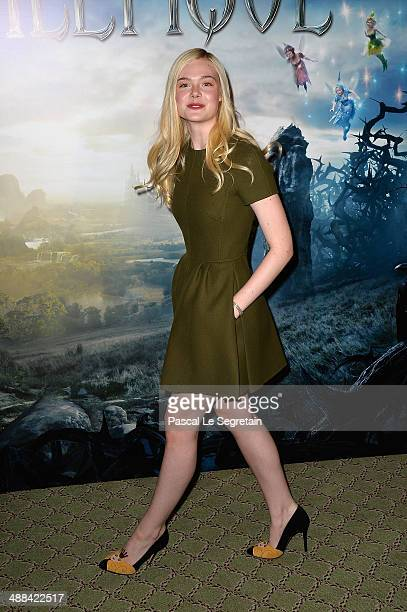 Elle Fanning attends a photo call for the film 'Maleficent' at Hotel Bristol on May 6 2014 in Paris France