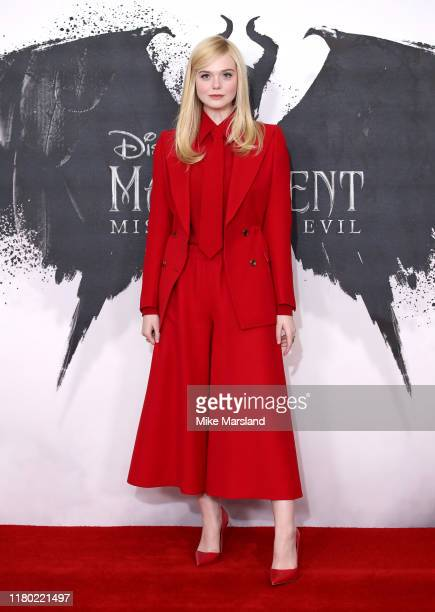 Elle Fanning attends a photocall for Maleficent Mistress of Evil at Mandarin Oriental Hotel on October 10 2019 in London England
