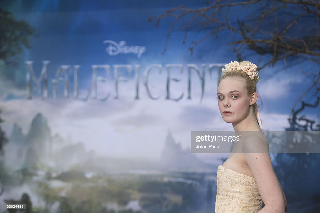 Elle Fanning attends a private reception as costumes and props from Disney's 'Maleficent' are exhibited in support of Great Ormond Street Hospital at Kensington Palace on May 8, 2014 in London, England.