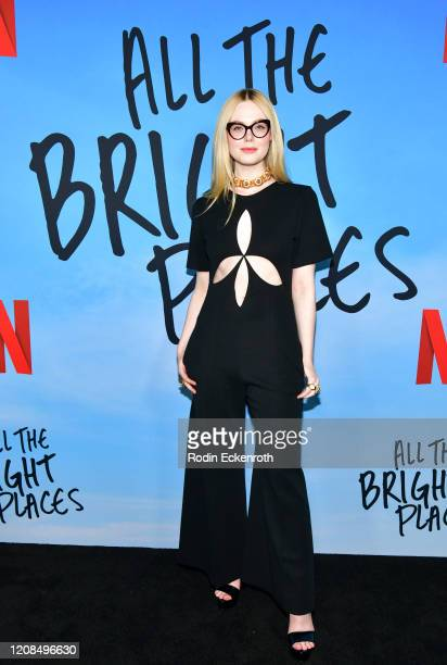 Elle Fanning attends a Special Screening of Netflix's All The Bright Places at ArcLight Hollywood on February 24 2020 in Hollywood California
