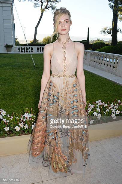 Elle Fanning attends amfAR's 23rd Cinema Against AIDS Gala at Hotel du CapEdenRoc on May 19 2016 in Cap d'Antibes France