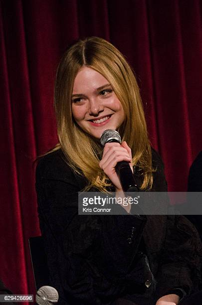 Elle Fanning attends an official academy screening of LIVE BY NIGHT hosted by the The Academy of Motion Picture Arts and Sciences at MOMA Celeste...