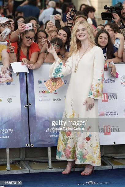 Elle Fanning attends Giffoni Film Festival 2019 on July 22, 2019 in Giffoni Valle Piana, Italy.