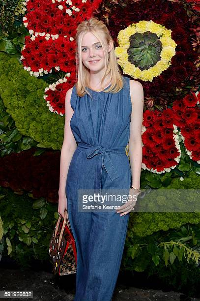 Elle Fanning attends Just One Eye x Creatures of the Wind Collaboration Dinner at Just One Eye on August 18 2016 in Los Angeles California