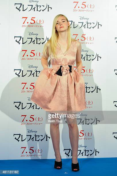 """Elle Fanning attends """"Maleficent"""" press conference for the Japan premiere at Grand Hyatt Tokyo on June 24, 2014 in Tokyo, Japan."""