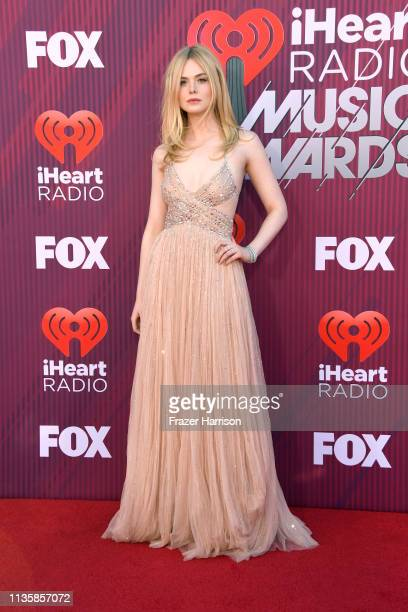 Elle Fanning attends the 2019 iHeartRadio Music Awards which broadcasted live on FOX at Microsoft Theater on March 14, 2019 in Los Angeles,...