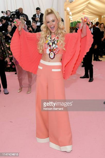 Elle Fanning attends The 2019 Met Gala Celebrating Camp Notes on Fashion at Metropolitan Museum of Art on May 06 2019 in New York City