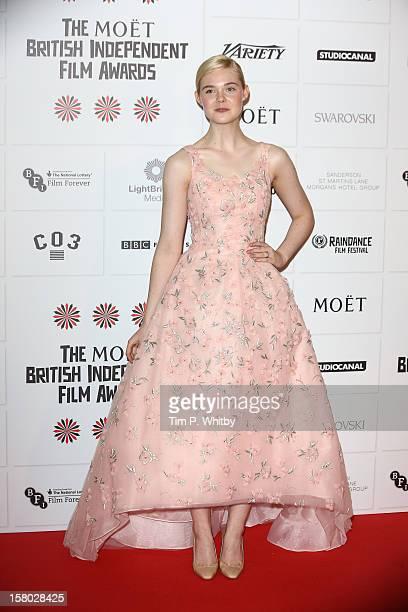 Elle fanning attends the British Independent Film Awards at Old Billingsgate Market on December 9 2012 in London England