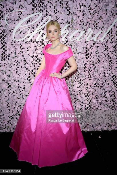 Elle Fanning attends the Chopard Love Night dinner on May 17, 2019 in Cannes, France.