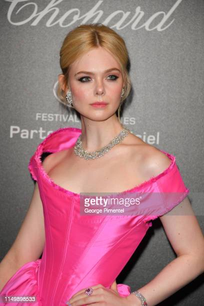 Elle Fanning attends the Chopard Party during the 72nd annual Cannes Film Festival on May 17 2019 in Cannes France