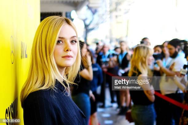 Elle Fanning attends the Galveston Premiere 2018 SXSW Conference and Festivals at Paramount Theatre on March 10 2018 in Austin Texas