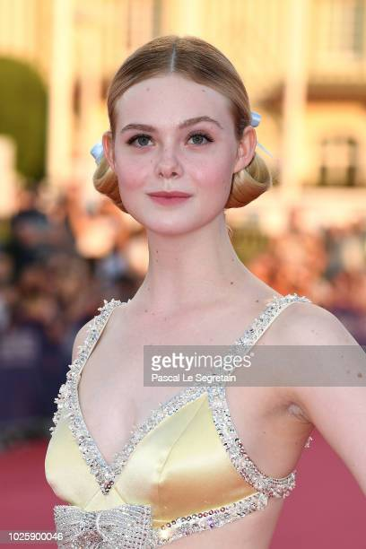 Elle Fanning attends the Galveston Premiere during the 44th Deauville American Film Festival on September 1 2018 in Deauville France