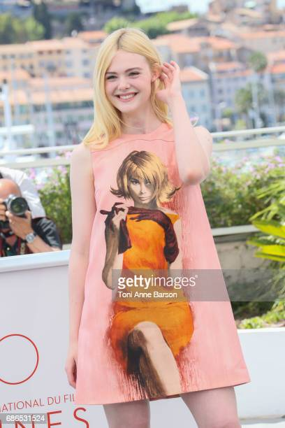 Elle Fanning attends the 'How To Talk To Girls At Parties' Photocall during the 70th annual Cannes Film Festival at Palais des Festivals on May 21...