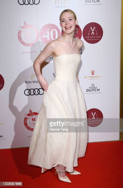 Elle Fanning attends the London Critics' Circle Film Awards 2020 at The May Fair Hotel on January 30, 2020 in London, England.