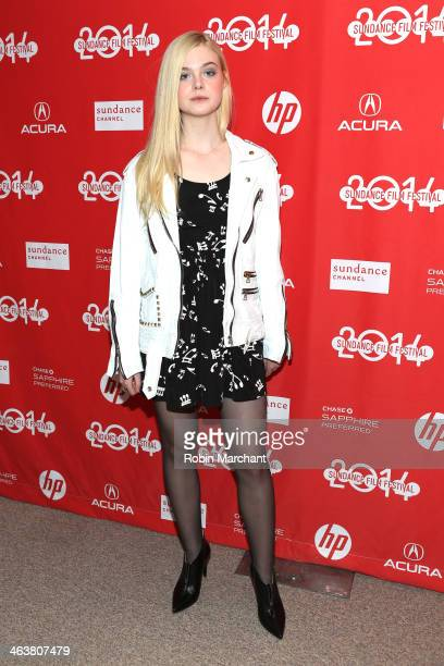 Elle Fanning attends the 'Low Down' premiere at Eccles Center Theatre during the 2014 Sundance Film Festival on January 19 2014 in Park City Utah