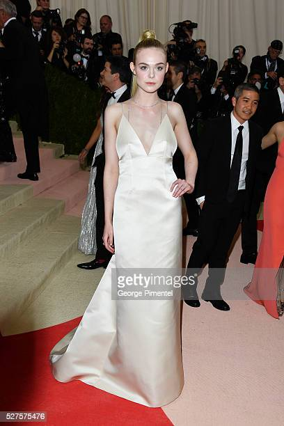 Elle Fanning attends the 'Manus x Machina: Fashion in an Age of Technology' Costume Institute Gala at the Metropolitan Museum of Art on May 2, 2016...