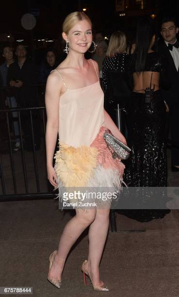 Elle Fanning attends the Marc Jacobs afterparty of the Rei Kawakubo/Comme des Garcons Art Of The InBetween Costume Institute Gala at the Boom Boom...