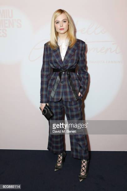 Elle Fanning attends the Miu Miu Women's Tales Screening at The Curzon Mayfair on February 19 2018 in London England