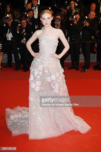 """Elle Fanning attends """"The Neon Demon"""" premier during The 69th Annual Cannes Film Festival on May 20, 2016 in Cannes, ."""