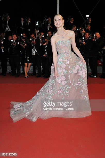 """Elle Fanning attends """"The Neon Demon"""" premiere at the 69th annual Cannes Film Festival at Palais des Festivals on May 20, 2016 in Cannes, France."""