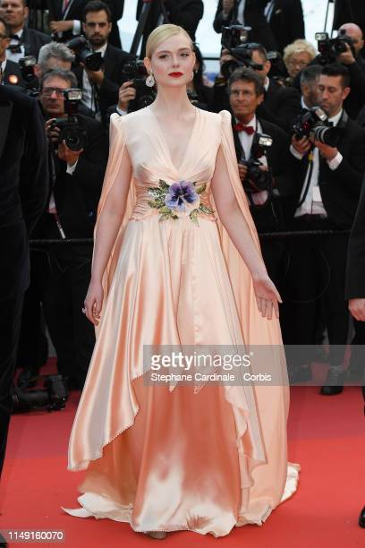 Elle Fanning attends the opening ceremony and screening of The Dead Don't Die during the 72nd annual Cannes Film Festival on May 14 2019 in Cannes...