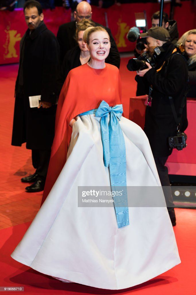 Elle Fanning attends the Opening Ceremony & 'Isle of Dogs' premiere during the 68th Berlinale International Film Festival Berlin at Berlinale Palace on February 15, 2018 in Berlin, Germany.