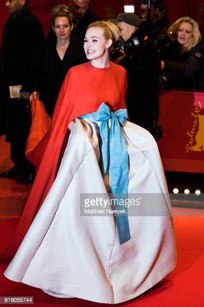 Elle Fanning attends the Opening Ceremony 'Isle of Dogs' premiere during the 68th Berlinale International Film Festival Berlin at Berlinale Palace on...