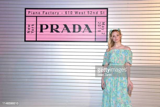 Elle Fanning attends the Prada Resort 2020 fashion show at Prada Headquarters on May 02 2019 in New York City