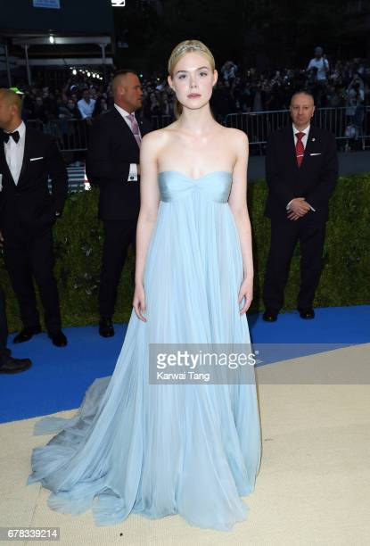 Elle Fanning attends the Rei Kawakubo/Comme des Garcons Art Of The InBetween Costume Institute Gala at the Metropolitan Museum of Art on May 1 2017...
