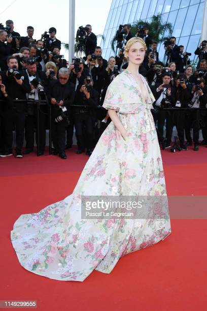 "Elle Fanning attends the screening of ""Les Miserables"" during the 72nd annual Cannes Film Festival on May 15, 2019 in Cannes, France."