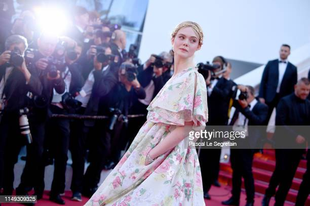 """Elle Fanning attends the screening of """"Les Miserables"""" during the 72nd annual Cannes Film Festival on May 15, 2019 in Cannes, France."""