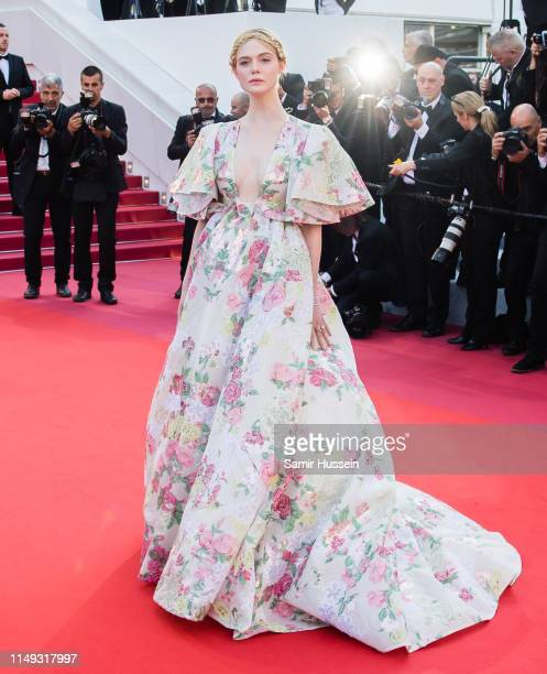 Elle Fanning attends the screening of Les Miserables during the 72nd annual Cannes Film Festival on May 15 2019 in Cannes France