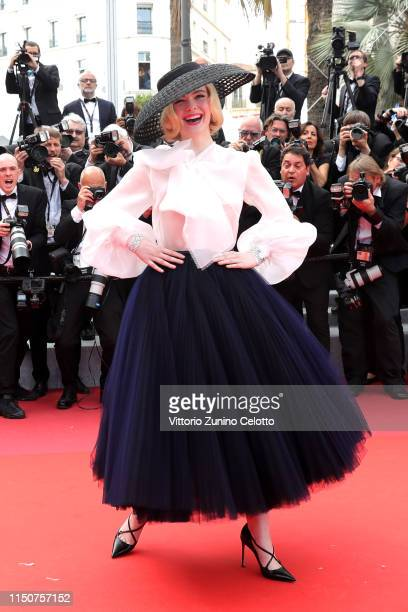 """Elle Fanning attends the screening of """"Once Upon A Time In Hollywood"""" during the 72nd annual Cannes Film Festival on May 21, 2019 in Cannes, France."""