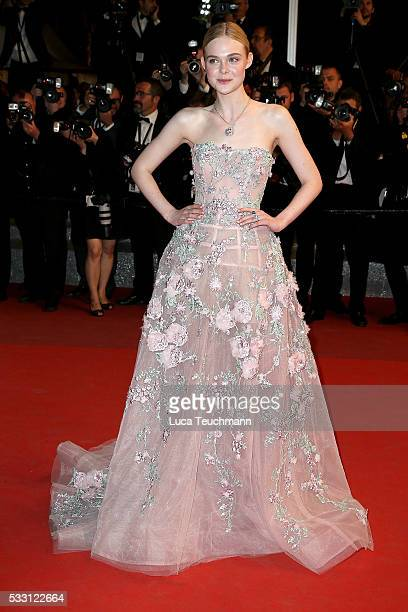 Elle Fanning attends the screening of The Neon Demon at the annual 69th Cannes Film Festival at Palais des Festivals on May 20 2016 in Cannes France