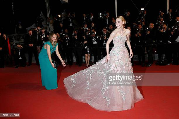 """Elle Fanning attends the screening of """"The Neon Demon"""" at the annual 69th Cannes Film Festival at Palais des Festivals on May 20, 2016 in Cannes,..."""