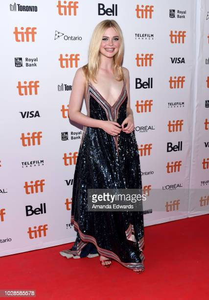 Elle Fanning attends the Teen Spirit premiere during 2018 Toronto International Film Festival at Ryerson Theatre on September 7 2018 in Toronto Canada