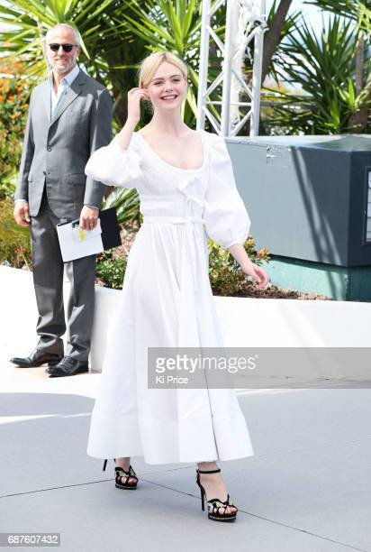 Elle Fanning attends the 'The Beguiled' photocall during the 70th annual Cannes Film Festival at Palais des Festivals on May 24 2017 in Cannes France