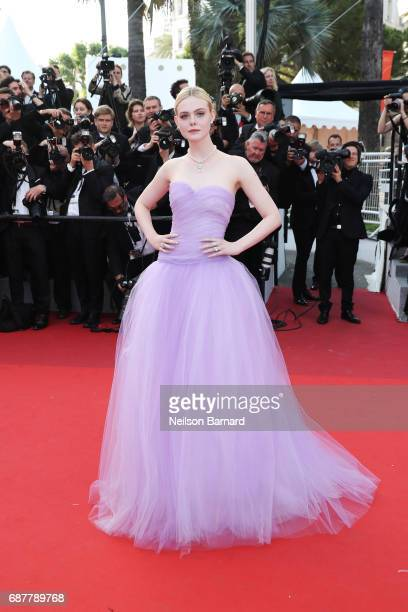 Elle Fanning attends the The Beguiled screening during the 70th annual Cannes Film Festival at Palais des Festivals on May 24 2017 in Cannes France