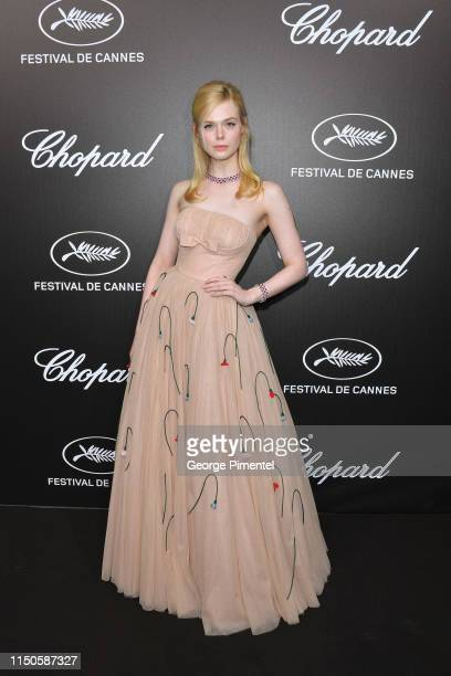 Elle Fanning attends the The Chopard Trophy event during the 72nd annual Cannes Film Festival on May 20 2019 in Cannes France