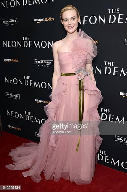 """Elle Fanning attends the """"The Neon Demon"""" New York premiere at Metrograph on June 22, 2016 in New York City."""