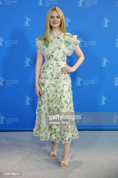 """Elle Fanning attends the """"The Roads Not Taken"""" photo call during the 70th Berlinale International Film Festival Berlin at Grand Hyatt Hotel on..."""