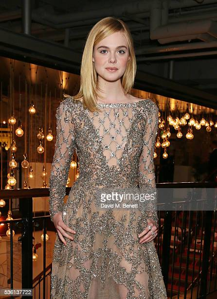"""Elle Fanning attends the UK Premiere of """"The Neon Demon"""" at Picturehouse Central on May 31, 2016 in London, England."""