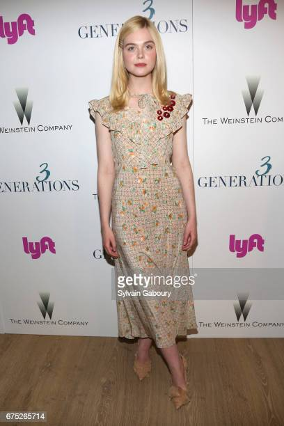 Elle Fanning attends The Weinstein Company and Lyft host a special screening of '3 Generations' on April 30 2017 in New York City
