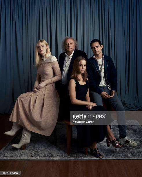 Elle Fanning Clara Rugaard Zlatko Buric and director Max Minghella from Teen Spirit are photographed for The Wrap on September 7 2018 at the Toronto...