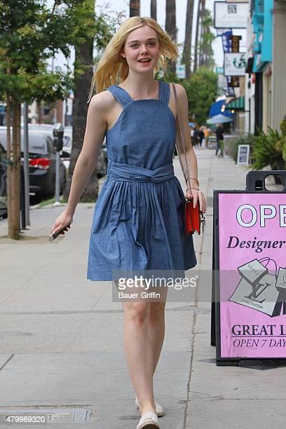 Elle Fanning in Studio City on July 08 2015 in Los Angeles California